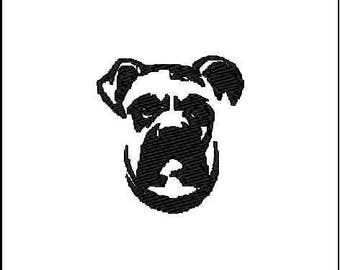 Boxer Dog 1- A Digital File Download for Machine Embroidery