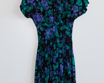 80's Floral Day Dress
