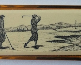 Vintage Brass Barlow Golf Key Chain