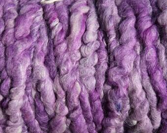 100% suri HEATHERED PURPLE core spun rug yarn