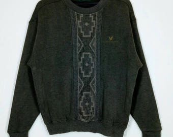 Rare!! LYLE & SCOTT sweatshirt nice design classic design pull over jumper crew neck spellout embroidery large size