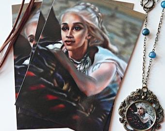 Game of Thrones art print, Game of Thrones decorations, Daenerys Targaryen art print, original illustration, digital print, geek, TV series