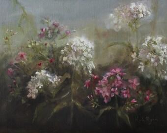 Garden Phlox Original Floral, Flower, Landscape Oil Painting