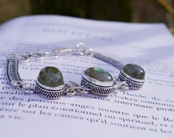 Bracelet labradorite, pierre de protection