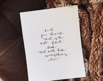 Look For Christ Print