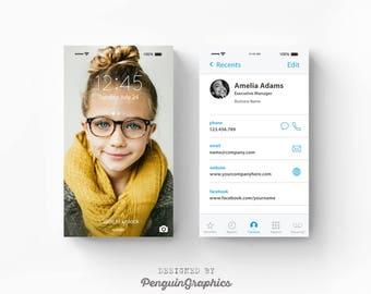 Business card. iPhone themed design. Modern custom business card. Personalized business card. Printable business card. Digital files. BC02