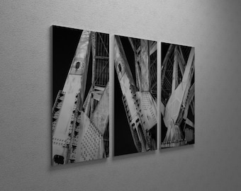 Industrial City by Moises Levy Gallery Wrapped Canvas Triptych Print