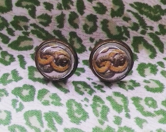 The Neverending Story Auryn Ouroboros bronze earrings
