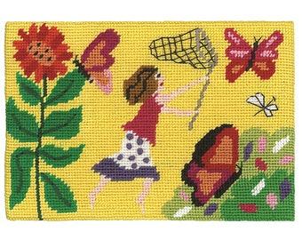 "Just ""Chasing Butterflies"" Jennifer Pudney Needlepoint Kit"
