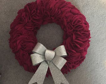Ruffle wreath