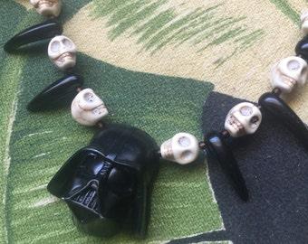 Primitive Darth Vader Star Wars  Necklace Black Talons Tiki Oasis VLV Pinup