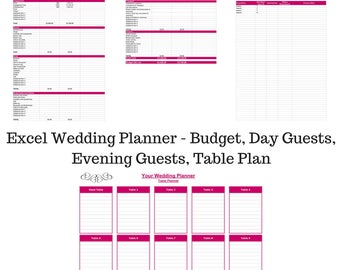 wedding cost tracker etsy
