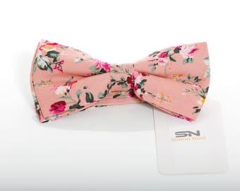 Bow Tie, Pre-Tied Bow tie, Groomsmen Wedding Bow Tie , Wedding Floral Bow Tie