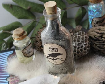 Ashes of Crow Apothecary Witch Bottle Decor/Halloween Prop/Pagan Home Decor/Halloween Party Decorating/Decoration/unique gifts