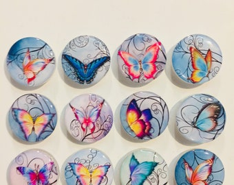 Colorful Butterfly Magnets - Set Of 12 - FREE SHIPPING
