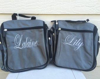 Personalized Toiletry Bag For Men and Women Embroidered Name or Monogram, Hanging Bathroom Travel Bag, Father's Day Gift Kit, Travel Dopp