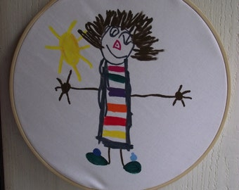 Bamboo frame custom made from your child's drawing