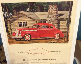 1940 Packard One Twenty Business Coupe automobile print ad