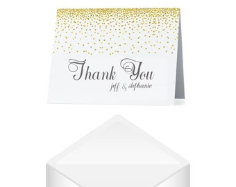 Wedding Thank You Cards Gold- Gold Thank You Cards Set- Silver Thank You Cards Set- Wedding Thank You Notes Wedding- Thank You Notes Baby-