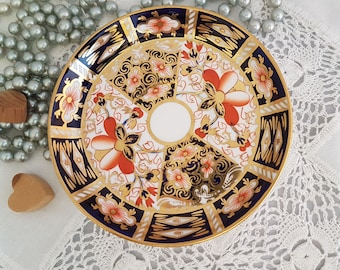 Royal Crown Derby Saucer Imari Pattern 2451~ Dated 1918 ~ 5 Inches Diameter