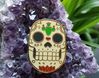 Sugar Skull Dia de Los Muertos Hard Enamel Pin