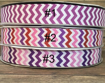 Chevron Printed ribbon