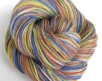 Hand Dyed Yarn Merino Wool Baby Alpaca Silk Sport Weight Yarn 240 yards Soft Colorful Indie Dyed Yarn Earth Tones Hipster - Hiking Trail