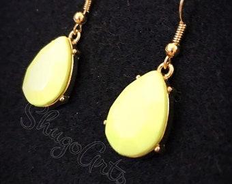 Lime yellow earrings