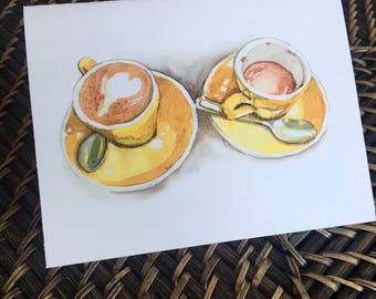 Coffee for Two notecards, 3-pack