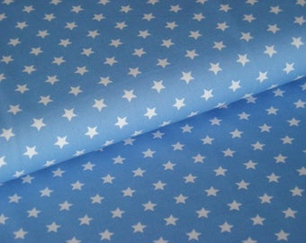 Cotton light blue with white stars