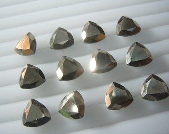 Gold Pyrite Trillion Cut Stone 10x10MM 20Pc AAA High Quality  Wholesale Price