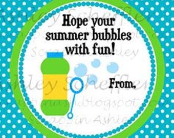 Instant download diy printable favor tag tag pool printable favor tag tag bubble summer end of school blue teacher gift bubble favors negle Choice Image