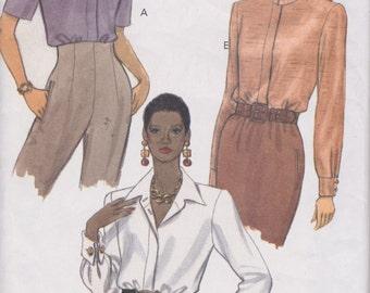 Vogue 8515 Misses' Blouses Sizes 8, 10, 12 Vintage UNCUT Pattern