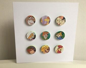 Disney's Robin Hood 3D bubbles greeting card. Featuring Robin Hood, Maid Marian, Sheriff of Nottingham, Hiss, Prince John, Little John & Sis