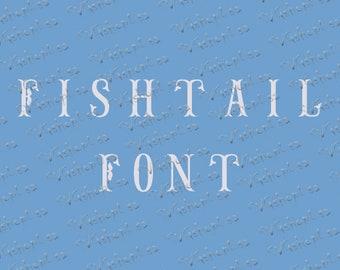 Sale! Fishtail Font SVG , Eps, Dxf , PNG , Fishtail alphabet ,  Fishtail Font , Fishtail Monogram Font , Fishtail Monogram Letters