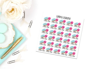 Kawaii Cheat Day/Ice Cream/Donut Planner Stickers