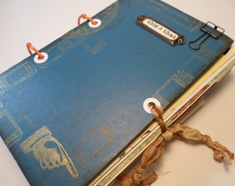 JUNK JOURNAL- Altered Book,Over 125 Pages/ Items-Smash Journal, Art Book, Travel Journal,Handmade Junk Journal, Altered Junk Journal