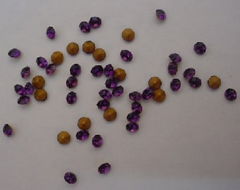 50 Amethyst Chatons demi-fins SS12