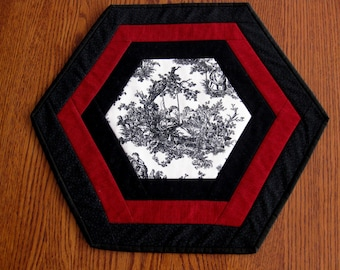 Black and Red Table Topper