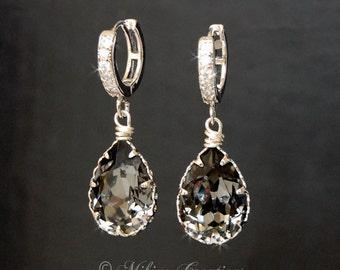 Wedding Chandelier Earrings, Wedding Accessories, Wedding Jewelry, Swarovski Crystal Cubic Zirconia Drop Earrings -E116