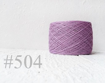Linen crochet knitting weaving thread  - lilac, lavender  color # 504