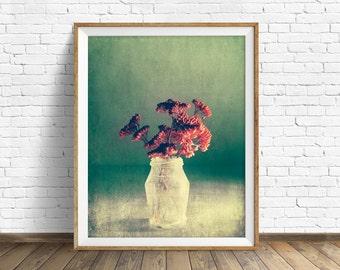"botanical print, flowers, large art, large wall art, instant download printable art, digital download, instant download - ""Little Treasures"""