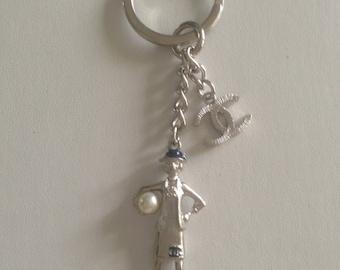 Chanel Lady Coco key chain