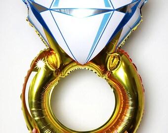 "38"" Foil balloon, gold ring foil balloon, mylar foil balloon, wedding balloon, party decor, bachelorette balloon, celebration"