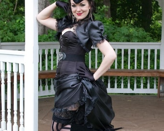 Little Black Gothic Dress | Vintage Diva | Ready to Ship