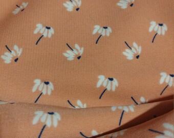 Rayon Challis - Peach Blossom Print