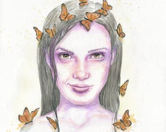The Fierceness of Fragility - ART PRINT 8 x 10   Watercolor by Ruth Oosterman
