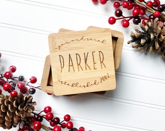 Custom Coasters. Personalized coaster set, Christmas Gift for Couples. Anniversary, wedding, housewarming gift. Wooden drink coasters.
