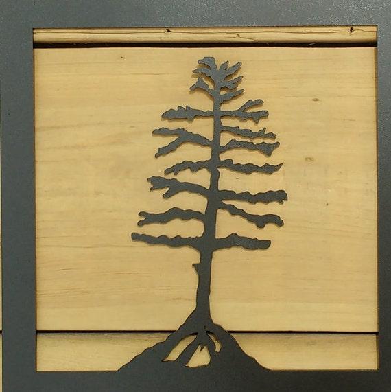 Metal Tree Art Wall Art Decoration Rustic Silouhette Tree