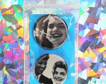Jackie O & JFK Button Set